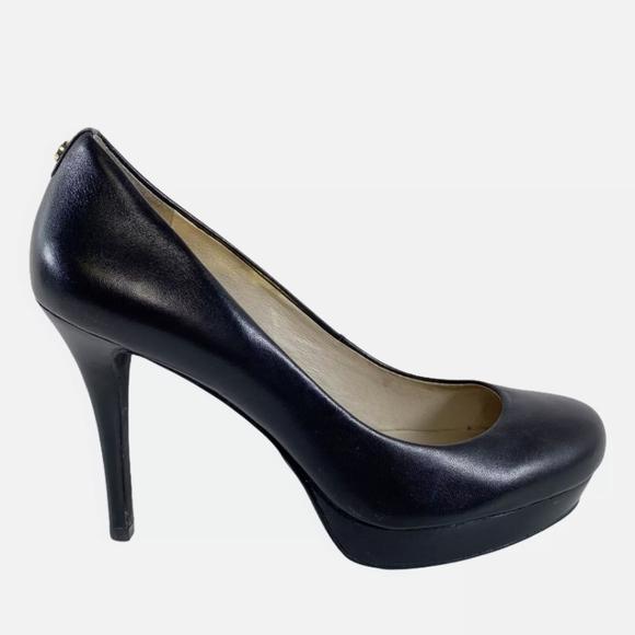 Michael Kors Ionna Stiletto Leather Heels Black